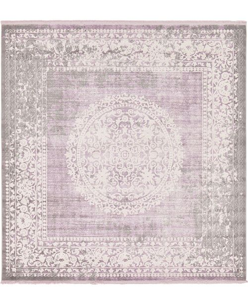 Bridgeport Home Norston Nor4 Purple 8' x 8' Square Area Rug