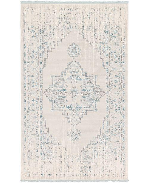 Bridgeport Home Norston Nor2 Ivory 5' x 8' Area Rug