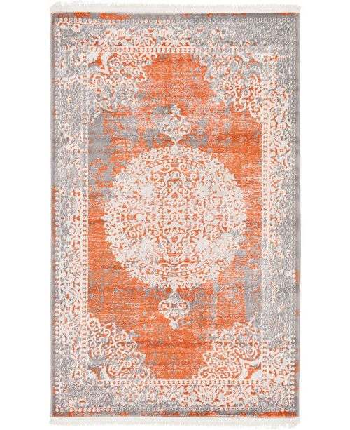 "Bridgeport Home Norston Nor4 Terracotta 3' 3"" x 5' 3"" Area Rug"