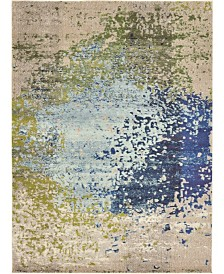 Bridgeport Home Newwolf New2 Blue 8' x 11' Area Rug