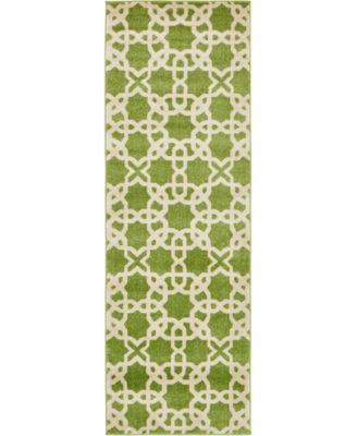 "Arbor Arb5 Green 2' 7"" x 8' Runner Area Rug"