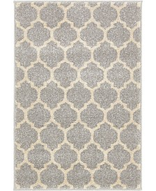 "Arbor Arb1 Light Gray 2' 2"" x 3' Area Rug"