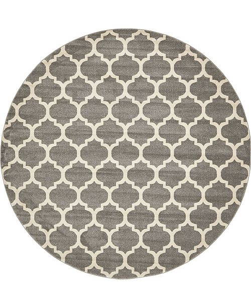 Bridgeport Home Arbor Arb1 Dark Gray 10' x 10' Round Area Rug