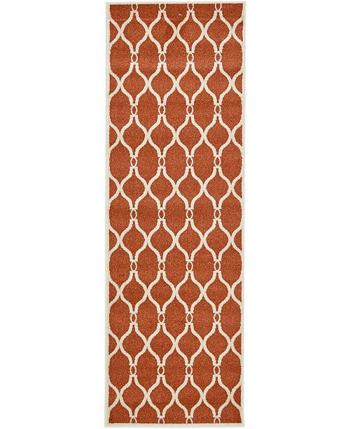 "Bridgeport Home Arbor Arb6 Terracotta 2' 7"" x 8' Runner Area Rug"