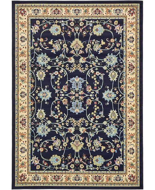 Bridgeport Home Arnav Arn1 Navy Blue 7' x 10' Area Rug