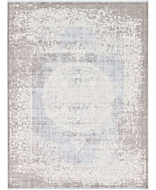 Bridgeport Home Norston Nor4 Light Blue 10' x 13' Area Rug