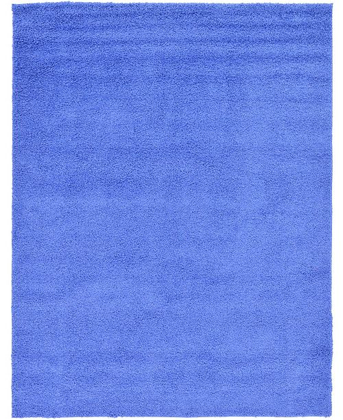 Bridgeport Home Exact Shag Exs1 Periwinkle Blue 9' x 12' Area Rug