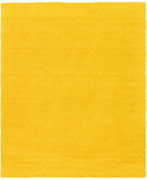 Bridgeport Home Exact Shag Exs1 Tuscan Sun Yellow 12' x 15' Area Rug
