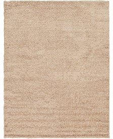 Bridgeport Home Exact Shag Exs1 Taupe 9' x 12' Area Rug