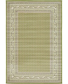Bridgeport Home Axbridge Axb1 Green 6' x 9' Area Rug