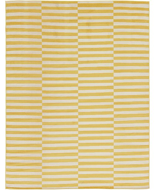 Bridgeport Home Axbridge Axb2 Yellow 9' x 12' Area Rug