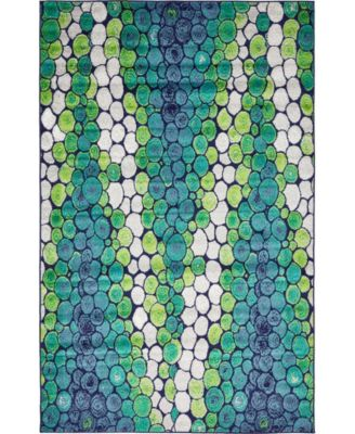 Politan Pol3 Light Green 5' x 8' Area Rug