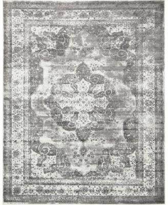 Basha Bas2 Gray 8' x 10' Area Rug