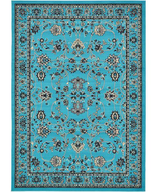 Bridgeport Home Arnav Arn1 Turquoise 7' x 10' Area Rug