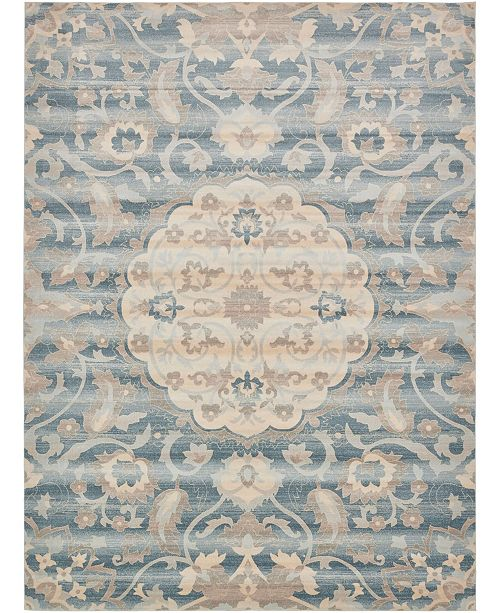 Bridgeport Home Caan Can8 Blue 10' x 13' Area Rug