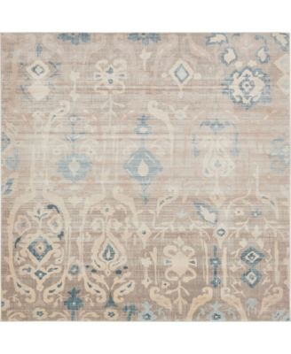 Caan Can9 Beige 8' x 8' Square Area Rug