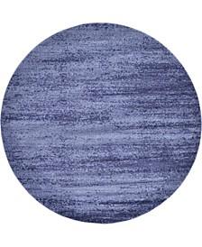 Lyon Lyo3 Navy Blue 8' x 8' Round Area Rug