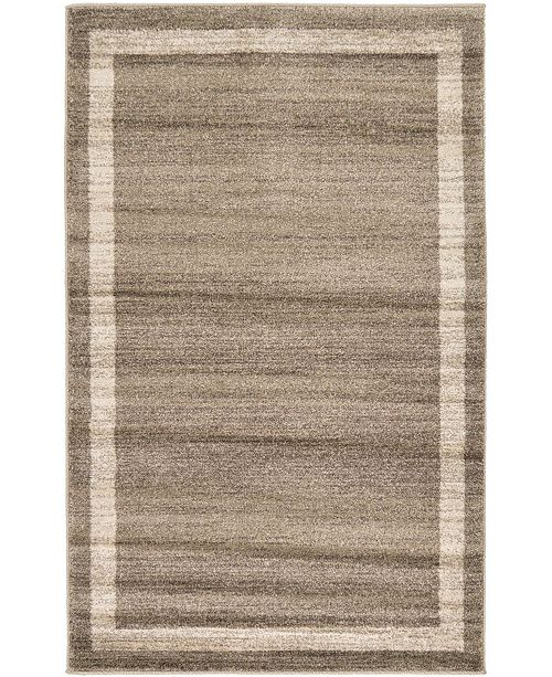 "Bridgeport Home Lyon Lyo5 Light Brown 3' 3"" x 5' 3"" Area Rug"