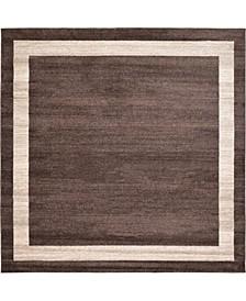 Lyon Lyo5 Brown 8' x 8' Square Area Rug