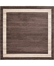 Bridgeport Home Lyon Lyo5 Brown 8' x 8' Square Area Rug