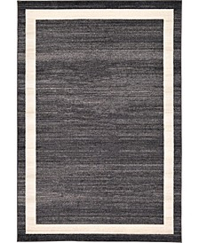 Lyon Lyo5 Black 6' x 9' Area Rug