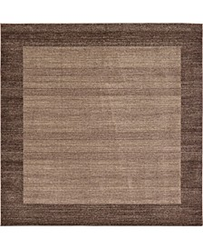 Lyon Lyo4 Light Brown 8' x 8' Square Area Rug