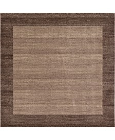 Bridgeport Home Lyon Lyo4 Light Brown 8' x 8' Square Area Rug