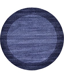 Lyon Lyo4 Navy Blue 6' x 6' Round Area Rug