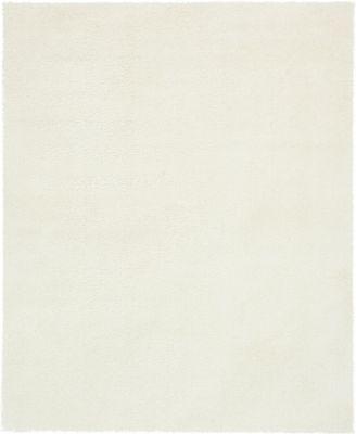 Salon Solid Shag Sss1 White 8' x 10' Area Rug