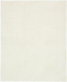 Bridgeport Home Salon Solid Shag Sss1 White 8' x 10' Area Rug