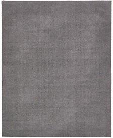 Salon Solid Shag Sss1 Dark Gray 8' x 10' Area Rug