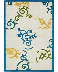 Bridgeport Home Pashio Pas3 Blue 7' x 10' Area Rug