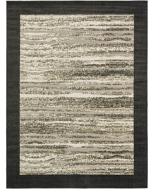 Bridgeport Home Pashio Pas4 Black 9' x 12' Area Rug