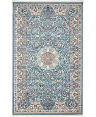 Zara Zar5 Blue 5' x 8' Area Rug