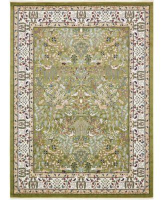 Zara Zar7 Green 10' x 13' Area Rug