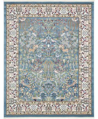 Zara Zar7 Blue 8' x 10' Area Rug