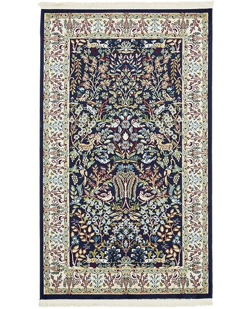 Bridgeport Home Zara Zar7 Navy Blue 3' x 5' Area Rug
