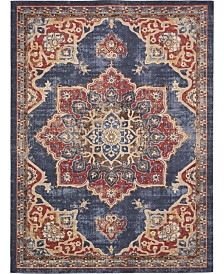 Bridgeport Home Shangri Shg3 Navy Blue 9' x 12' Area Rug