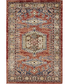 Bridgeport Home Shangri Shg4 Peach 4' x 6' Area Rug