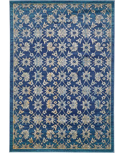 Bridgeport Home Masha Mas1 Navy Blue 7' x 10' Area Rug
