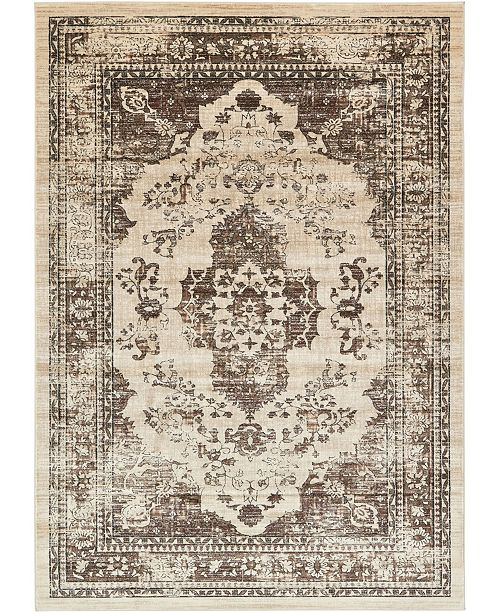 "Bridgeport Home Masha Mas8 Tan 8' x 11' 4"" Area Rug"