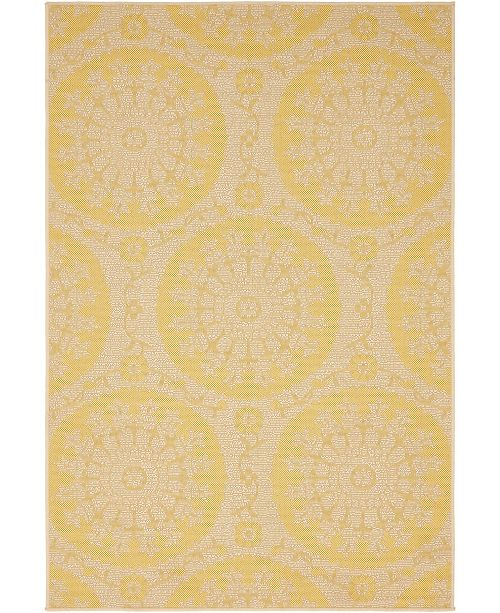 Bridgeport Home Pashio Pas5 Yellow 4' x 6' Area Rug