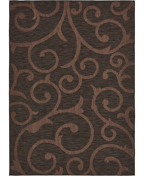 "Bridgeport Home Pashio Pas7 Chocolate Brown 8' x 11' 4"" Area Rug"