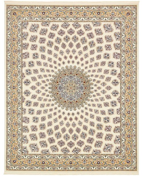 Bridgeport Home Zara Zar1 Ivory 8' x 10' Area Rug