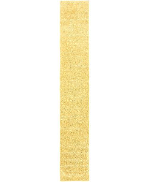 """Bridgeport Home Uno Uno1 Yellow 2' 2"""" x 13' Runner Area Rug"""