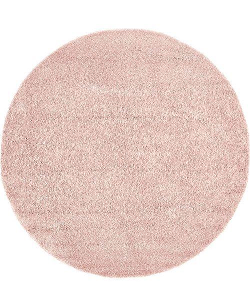 Bridgeport Home Uno Uno1 Pink 8' x 8' Round Area Rug