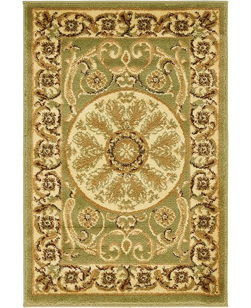 "Bridgeport Home Belvoir Blv2 Light Green 2' 2"" x 3' Area Rug"