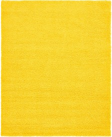 Bridgeport Home Exact Shag Exs1 Tuscan Sun Yellow Area Rug Collection