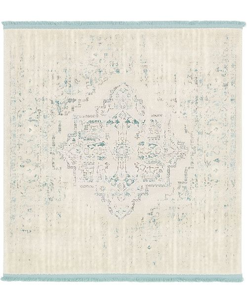 Bridgeport Home Norston Nor2 Ivory 4' x 4' Square Area Rug