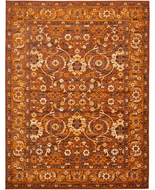 Bridgeport Home Linport Lin3 Terracotta 10' x 13' Area Rug